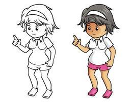 sport tecknad målarbok för barn vektor