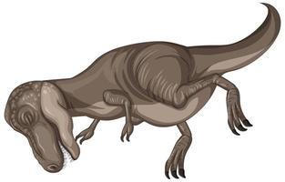 dinosaurie slaktkropp i tecknad stil isolerad på vit bakgrund vektor