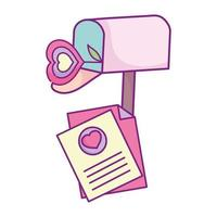 glad alla hjärtans dag, brevlåda brev blomma hjärta kärlek