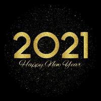 glitzernden Frohes Neues Jahr Hintergrund vektor