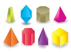 Färgad geometrisk prismaform vektor