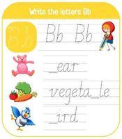 engelska alfabetet spårning kalkylblad vektor