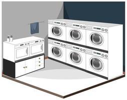 Waschküche Interieur mit Möbeln vektor