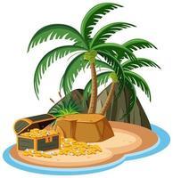 Schatz auf der Insel isoliert vektor
