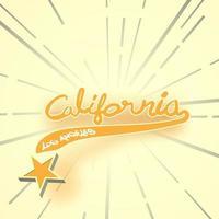 typografi slogan vintage med sommar Kalifornien för t-shirt utskrift, grafisk tee. vektor illustration