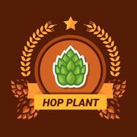 hop-växtlogotyp vektor