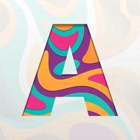 Buchstabe A Logo Icon Design-Vorlage Elemente vektor