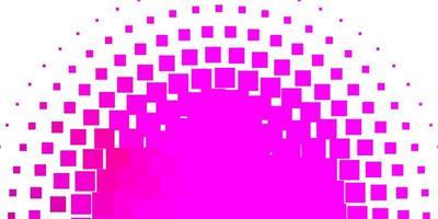 ljusrosa vektormönster i fyrkantig stil.