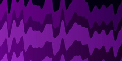mörk lila vektor bakgrund med linjer.