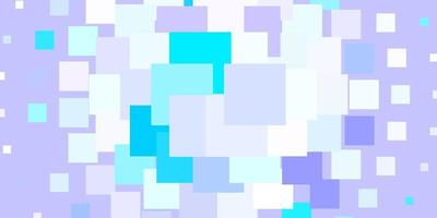 hellrosa, blaues Vektormuster im quadratischen Stil.