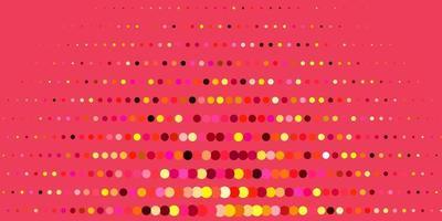 dunkelrosa, gelbe Vektorschablone mit Kreisen