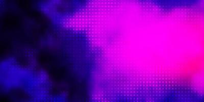 dunkelviolette Vektorschablone mit Kreisen.