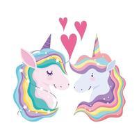 enhörningar regnbågshår djur fantasi kärlek hjärtan drömtecknad film