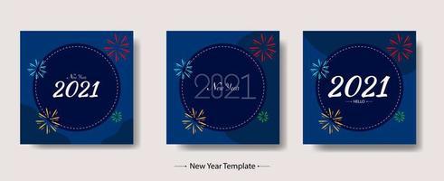nyår 2021 mallpaket vektor