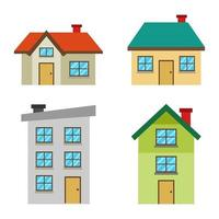 Gebäude und Haus gesetzt vektor