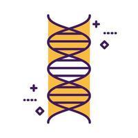 DNA-Molekül medizinische Symbollinie und Füllstil vektor