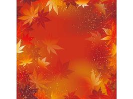 Eine nahtlose Herbstvektor-Hintergrundillustration. vektor