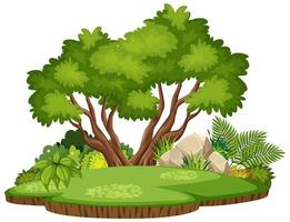 isolierte Naturwaldinsel vektor
