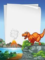 en dinosaurie banner mall i natur scen vektor