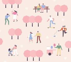 våren park affisch