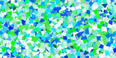 hellblaues Vektormuster mit polygonalem Stil. vektor