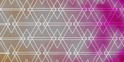 ljusrosa vektor mönster med månghörnigt stil.