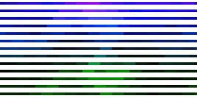 dunkles mehrfarbiges Vektormuster mit Linien.