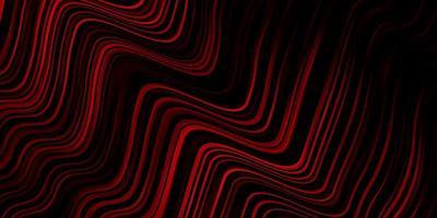dunkelrote Vektorschablone mit gekrümmten Linien.