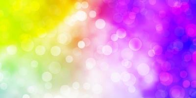 ljus flerfärgad vektorlayout med cirklar.