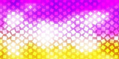 hellrosa, gelber Vektorhintergrund mit Rechtecken. vektor