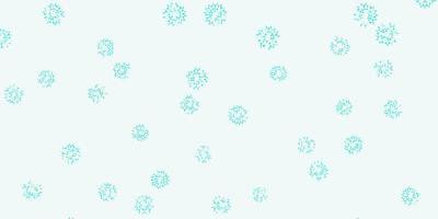 hellgrüner Vektor Gekritzelhintergrund mit Blumen.
