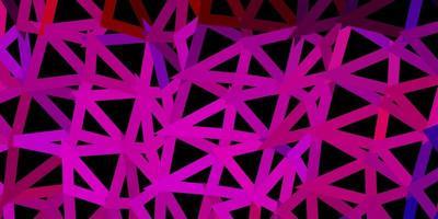 mörkblå, röd vektor triangel mosaik design.