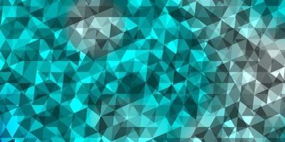 ljusblått, grönt vektormönster med månghörnigt stil.