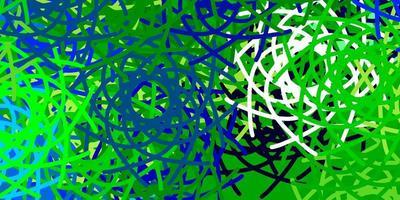 hellblaue, grüne Vektorschablone mit abstrakten Formen.