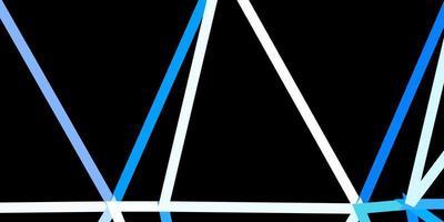dunkelblauer Vektor polygonaler Hintergrund.