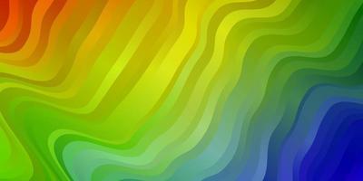 heller mehrfarbiger Vektorhintergrund mit gebogenen Linien.