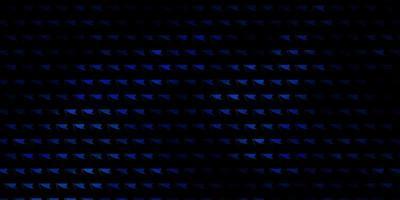 mörkblå vektor bakgrund med linjer, trianglar.