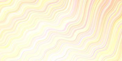 ljus orange vektor layout med böjda linjer.