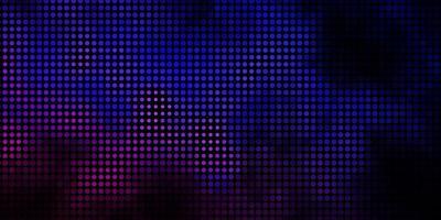 dunkelrosa, blaues Vektormuster mit Kreisen.