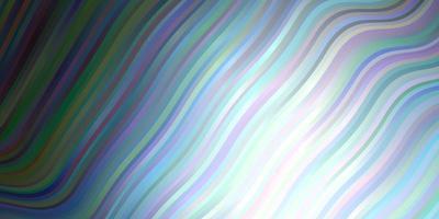 mörkblå vektormall med kurvor.