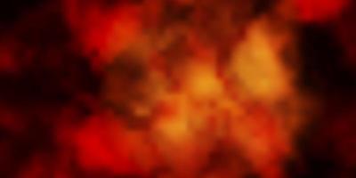 mörkgul vektorlayout med molnlandskap.