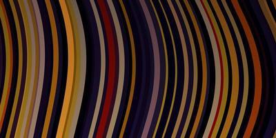 ljusrosa, gul vektorbakgrund med bågar. vektor