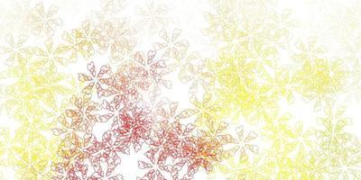 hellgrünes, rotes Vektor-Abstraktmuster mit Blättern.