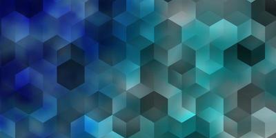 hellblauer Vektorhintergrund mit Satz von Sechsecken.