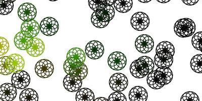 ljusgrön, gul vektorbakgrund med bubblor.