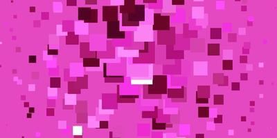 hellrosa Vektorhintergrund mit Rechtecken. vektor