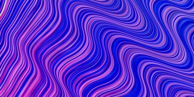 ljuslila, rosa vektorbakgrund med böjda linjer.