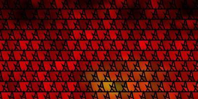 dunkelrotes, gelbes Vektorlayout mit Linien, Dreiecken.