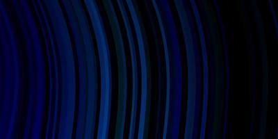 dunkelblaues, grünes Vektormuster mit gekrümmten Linien.