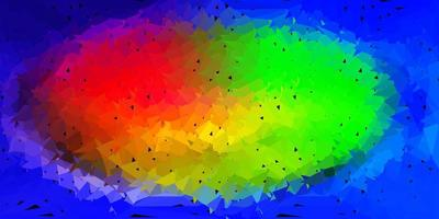 Licht mehrfarbiges Vektor polygonales Muster.